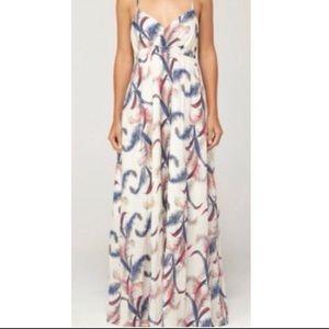 Quicksilver Tropical Feather Print Maxi Dress
